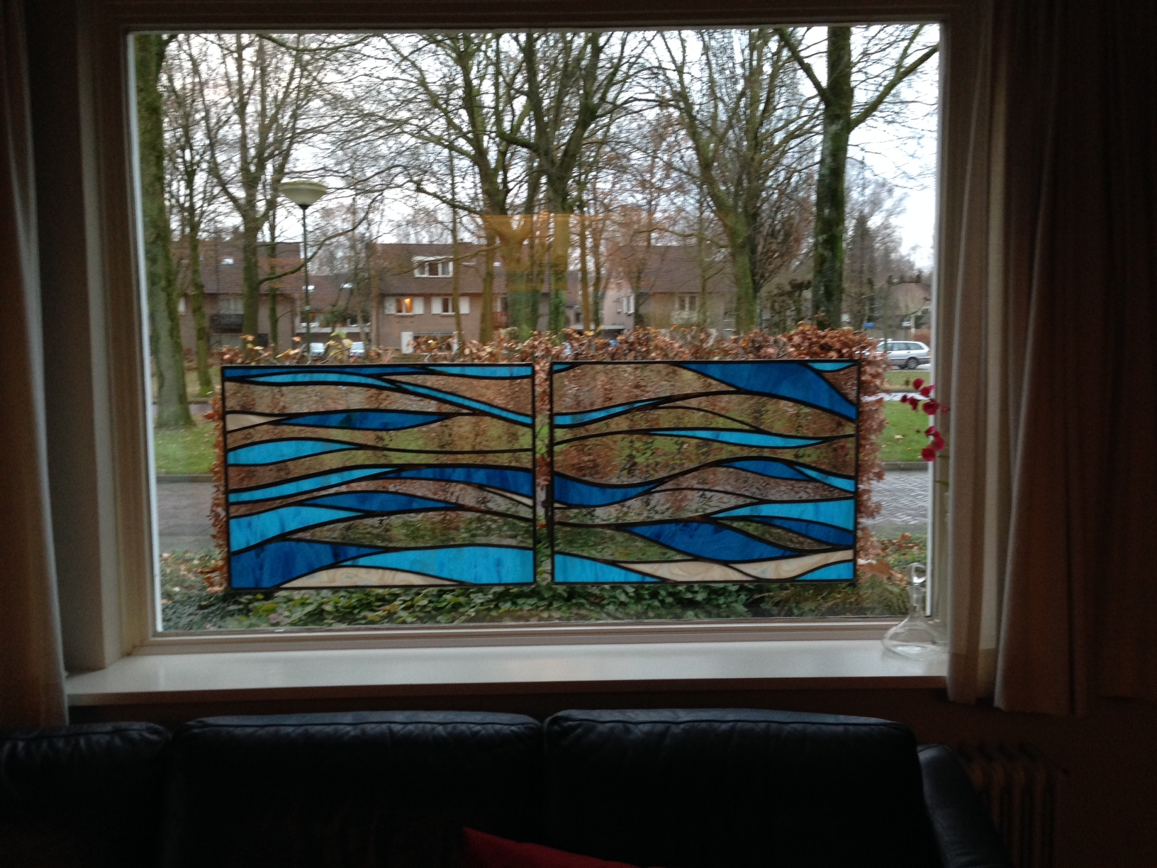 """Twee raam panelen """"Landschap"""""""