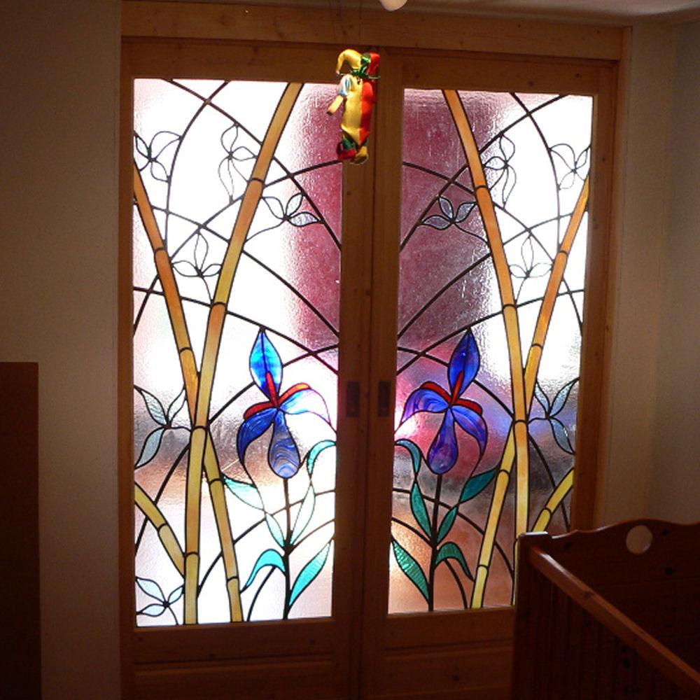 glas in lood in tussendeuren