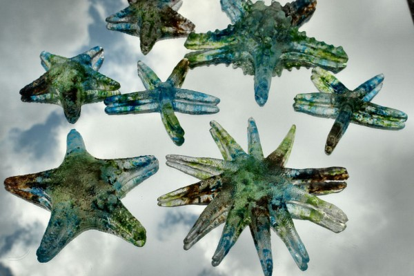 Zeesterren van glas