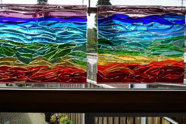 """Twee raam panelen """"Loes"""""""